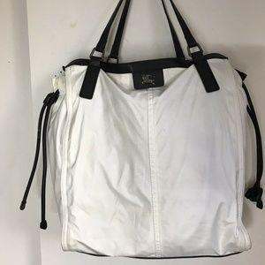 BURBERRY White Nylon Tote Bag
